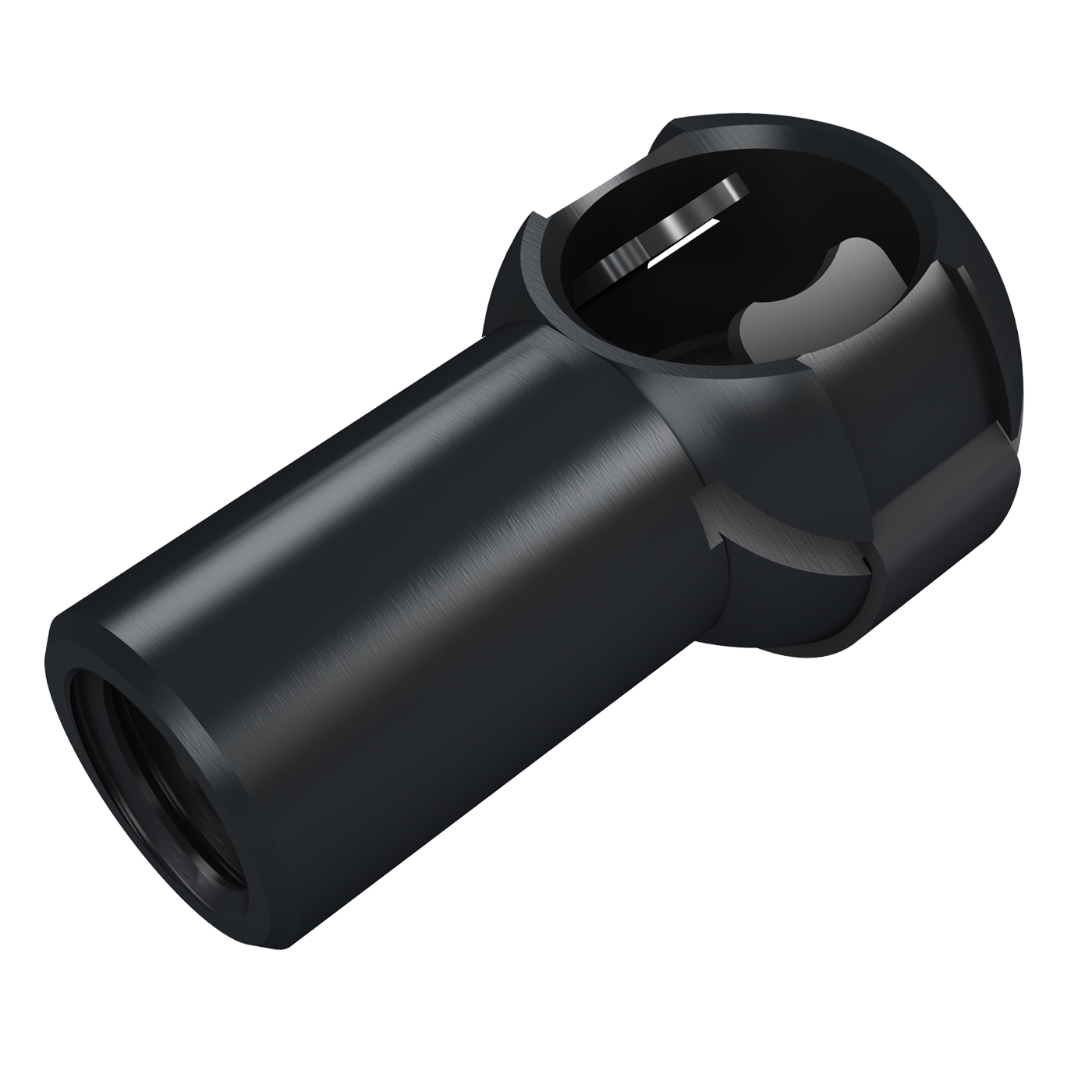 Ball sockets with slit and clip