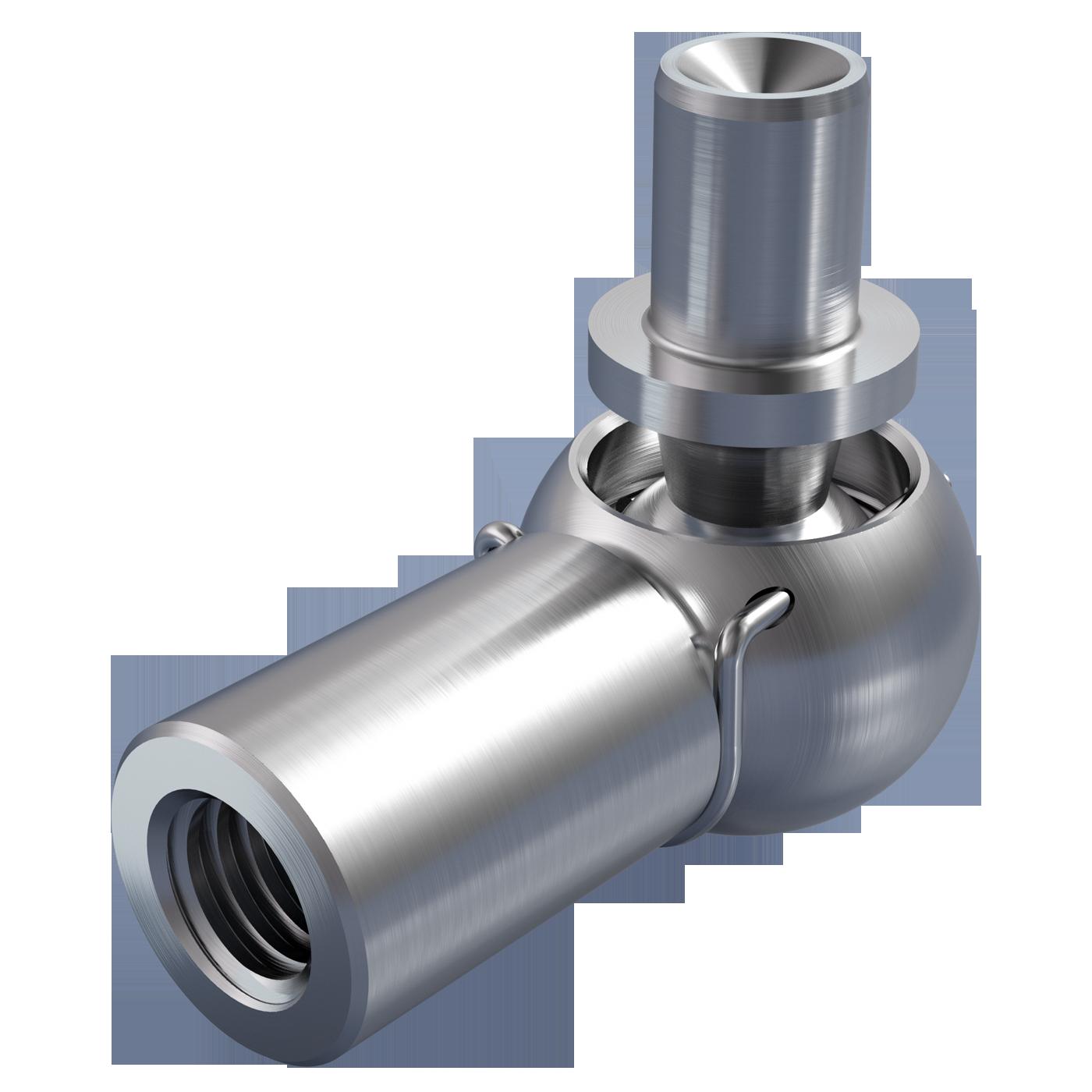 mbo Oßwald ist Winkelgelenk Hersteller, Winkelgelenke Hersteller, DIN 71802 Form BS, mit Nietzapfen und Sicherungsbügel. Folgende Werkstoffe stehen zur Auswahl: Stahl oder Edelstahl 1.4305, bzw. Edelstahl 1.4404, A4 Qualität.