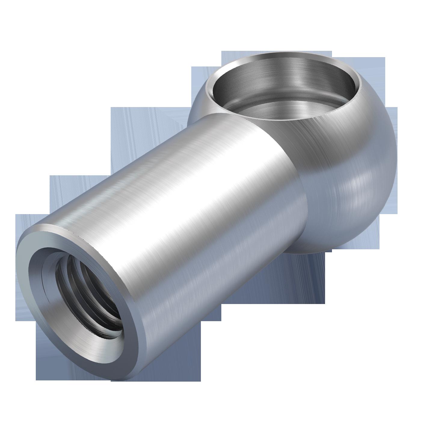 mbo Oßwald ist Produzent von Kugelpfannen, Kugelpfanne nach DIN 71805 Form A mit Sprengring. Verarbeitet werden Stahl und Edelstahl 1.4305 bzw. A4 Qualität 1.4404.
