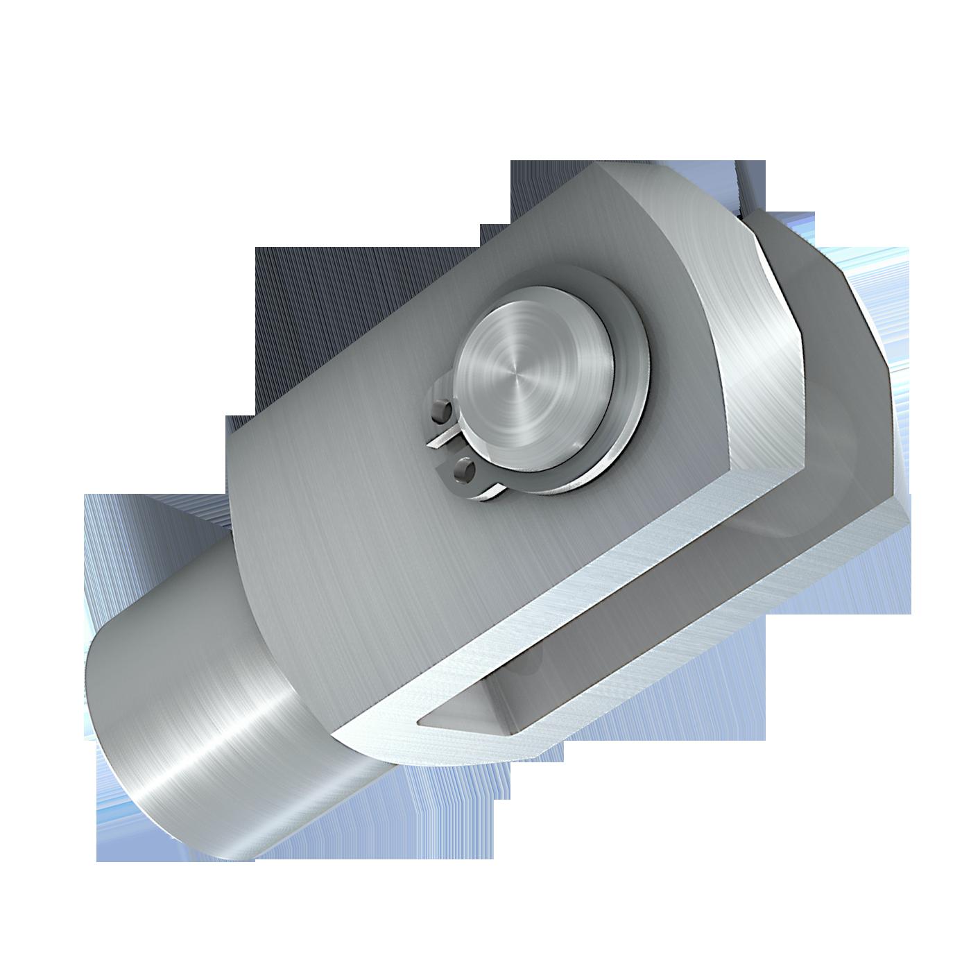 mbo Oßwald ist Hersteller von Gabelgelenk, Gabelgelenken mbo-Norm ABS 471, montiert, bestehend aus Gabelkopf, Gabelköpfe, Gabelkoepfe, nach DIN 71752, DIN ISO 8140, CETOP RP102P und Bolzen mit Einstich und entsprechendem Sicherungsring nach DIN 471. Wir fertigen diese aus Stahl 1.0718 und Edelstahl 1.4305.