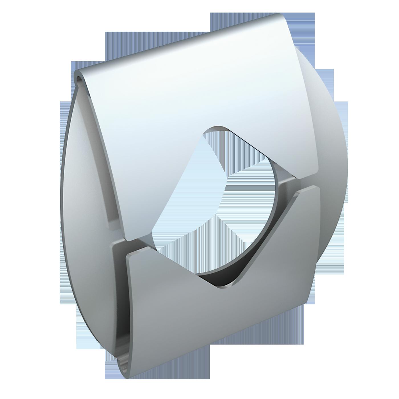 mbo Oßwald hat Duo-Clip, Duo-Clipse im Programm. Hergestellt werden diese Sicherungen für Bolzen und Wellen ohne Nut aus Federbandstahl.
