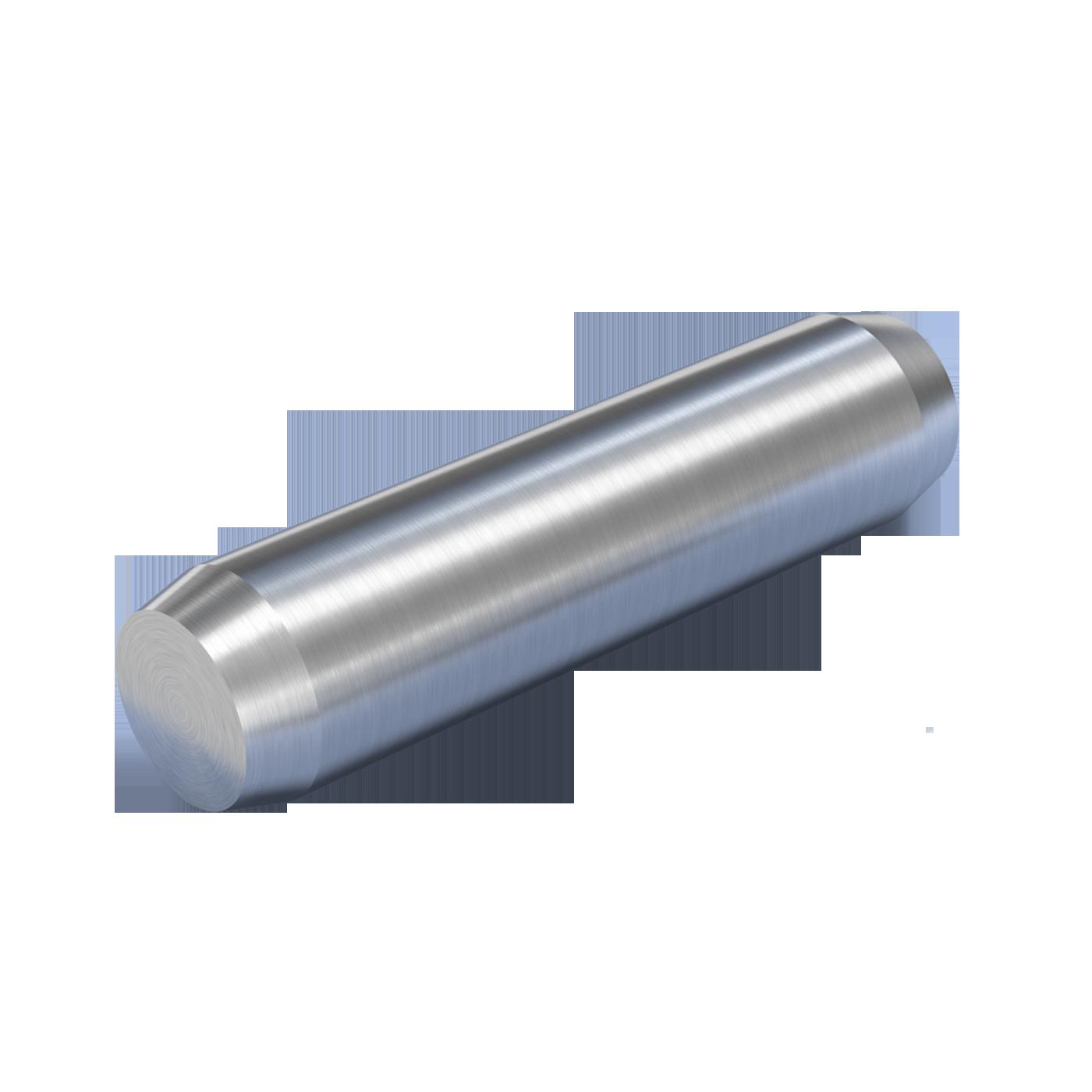 Zylinderstifte DIN EN ISO 2338 dienen der kraftschlüssigen lagesichernden Verbindung von Bauteilen. Geliefert werden die Teile aus ungehärtetem Stahl oder austenitischem nichtrostendem Stahl.