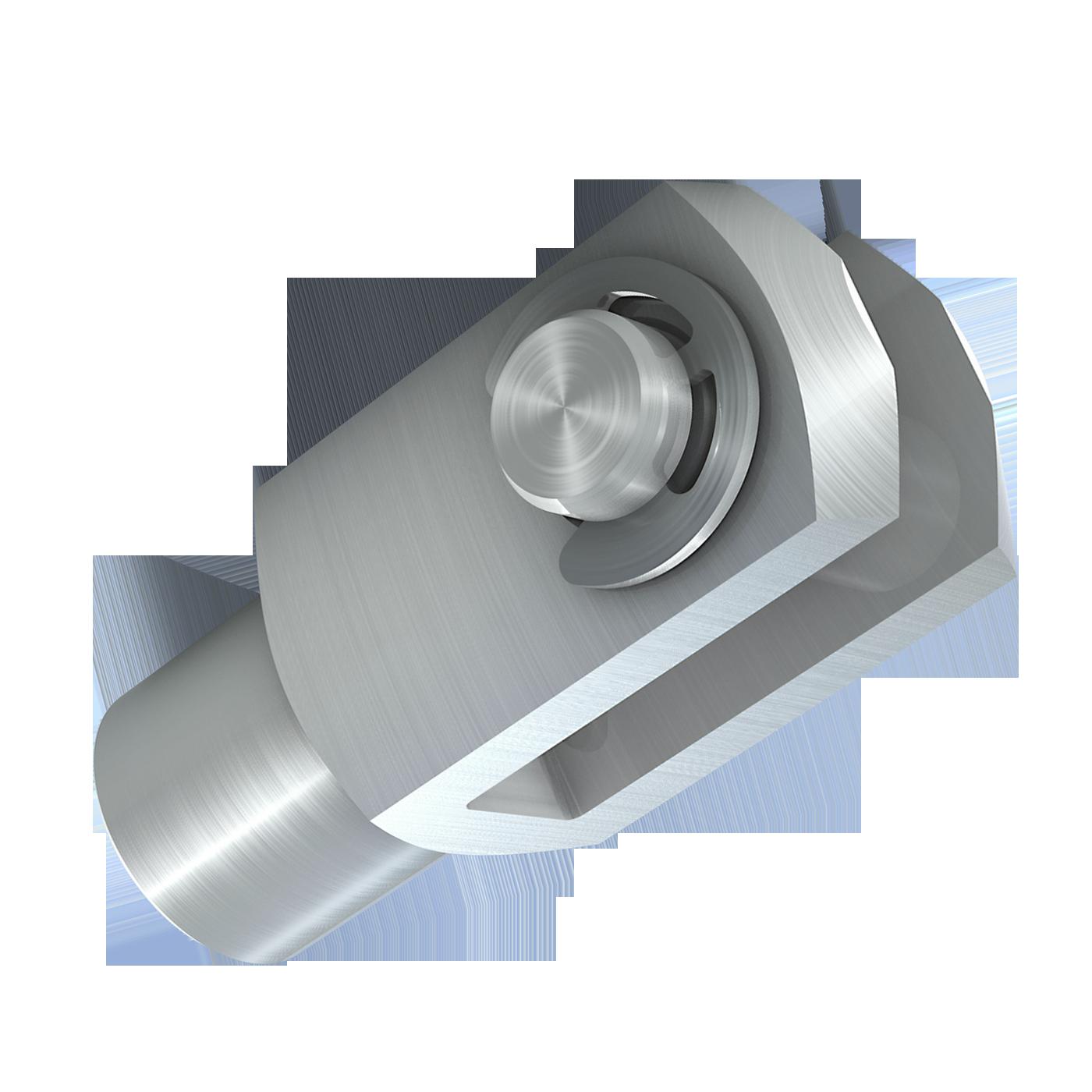 mbo Oßwald ist Hersteller von Gabelgelenk, Gabelgelenken mbo-Norm ABS, montiert, bestehend aus Gabelkopf, Gabelköpfe, Gabelkoepfe, nach DIN 71752, DIN ISO 8140, CETOP RP102P und Bolzen mit Einstich und Sicherungsscheibe nach DIN 6799. Wir fertigen diese aus Stahl 1.0718 und Edelstahl 1.4305 und A4-Qualität 1.4404.