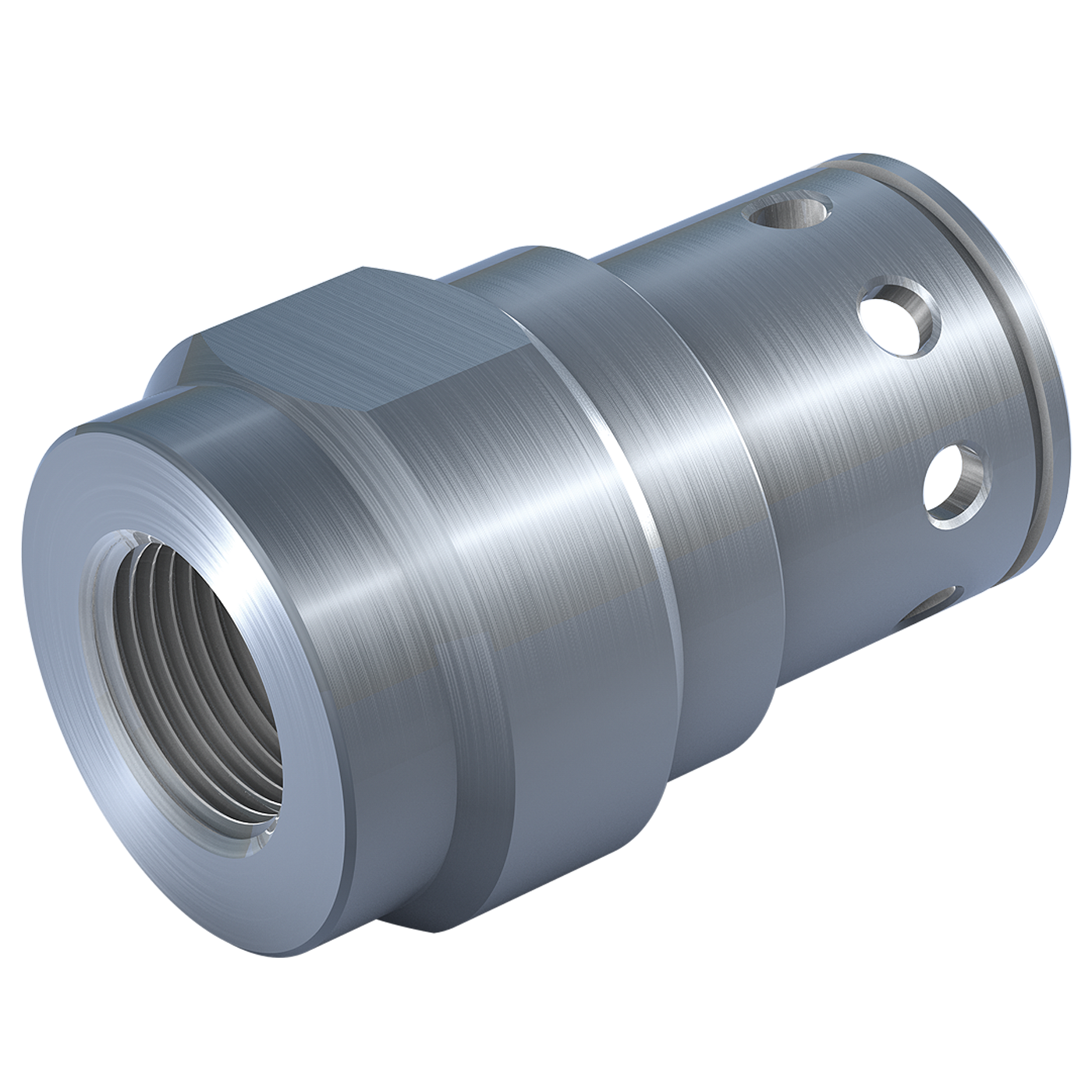 Threaded fitting with spanner surface