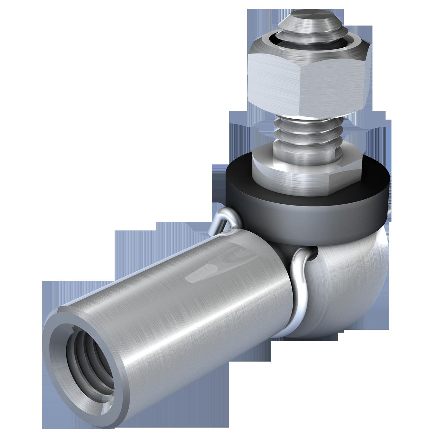 mbo Oßwald produziert Winkelgelenk mit Dichtkappe, Winkelgelenke mit Dichtkappe, ähnlich DIN 71802 Form CS. Angeboten werden diese in Automatenstahl oder Edelstahl 1.4305 und A4 Qualität, Edelstahl 1.4404.