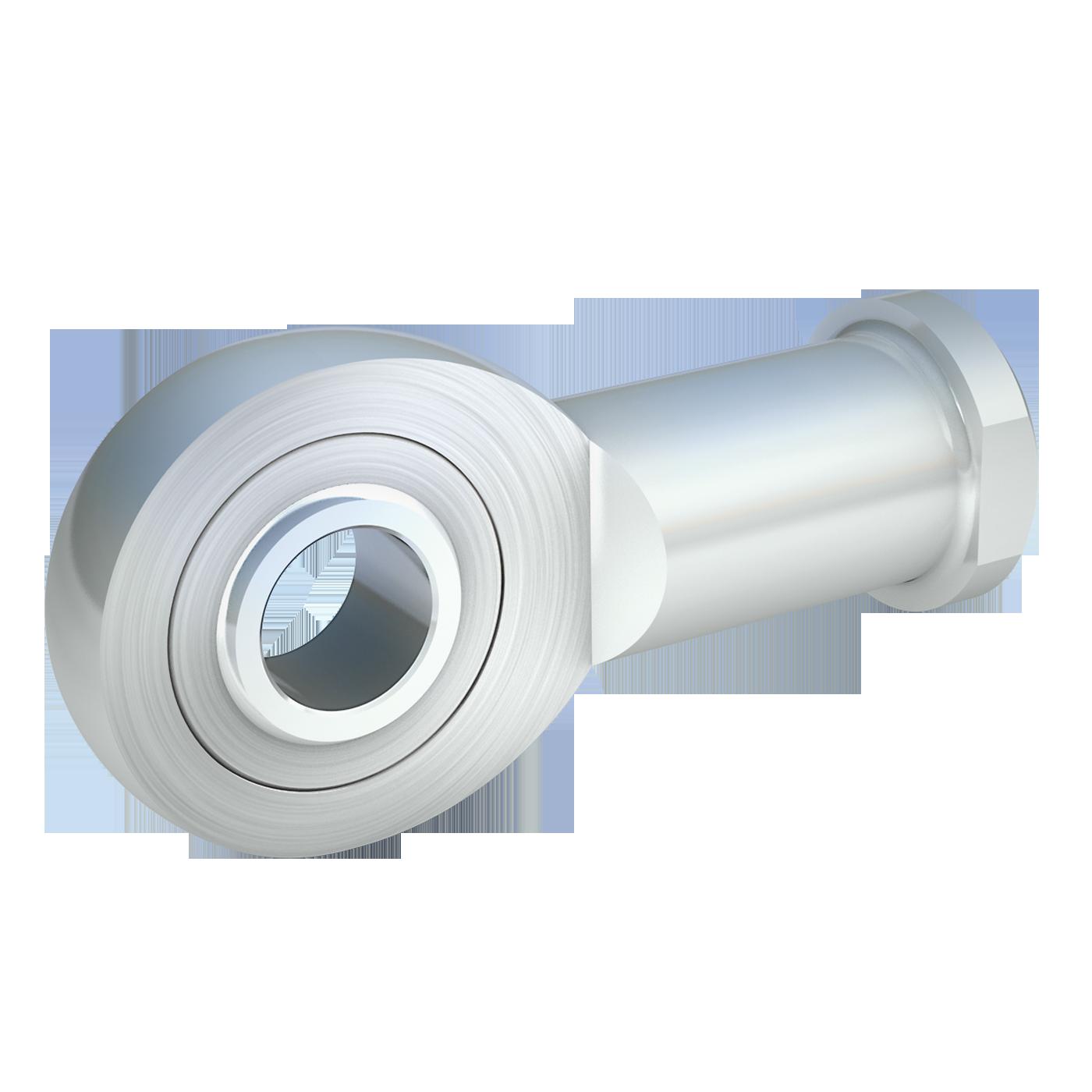 Gelenkköpfe der schmalen Maßreihe E, sind nach DIN ISO 12240-4 (DIN 648). Dieser Gelenkkopf mit Innengewinde von mbo Oßwald ist wartungsfrei und aus Stahl verzinkt.