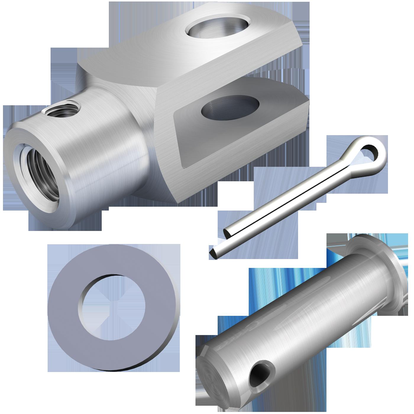 mbo Oßwald ist Hersteller von Gabelgelenk mit Zusatzgewinde, Gabelgelenken mit Zusatzgewinde in Ausführung als A-Gelenk, A-Gelenken, für Verdrehsicherung, ähnlich DIN 71751, lose, bestehend aus Gabelkopf mit Zusatzgewinde, Gabelköpfe mit Zusatzgewinde, Gabelkoepfe mit Zusatzgewinde, ähnlich DIN 71752, DIN ISO 8140, CETOP RP102P und Bolzen mit Splintloch, Scheiben DIN 125 und Splinte DIN 94. Wir fertigen diese aus Stahl 1.0718 und Edelstahl 1.4305 und A4-Qualität 1.4404.