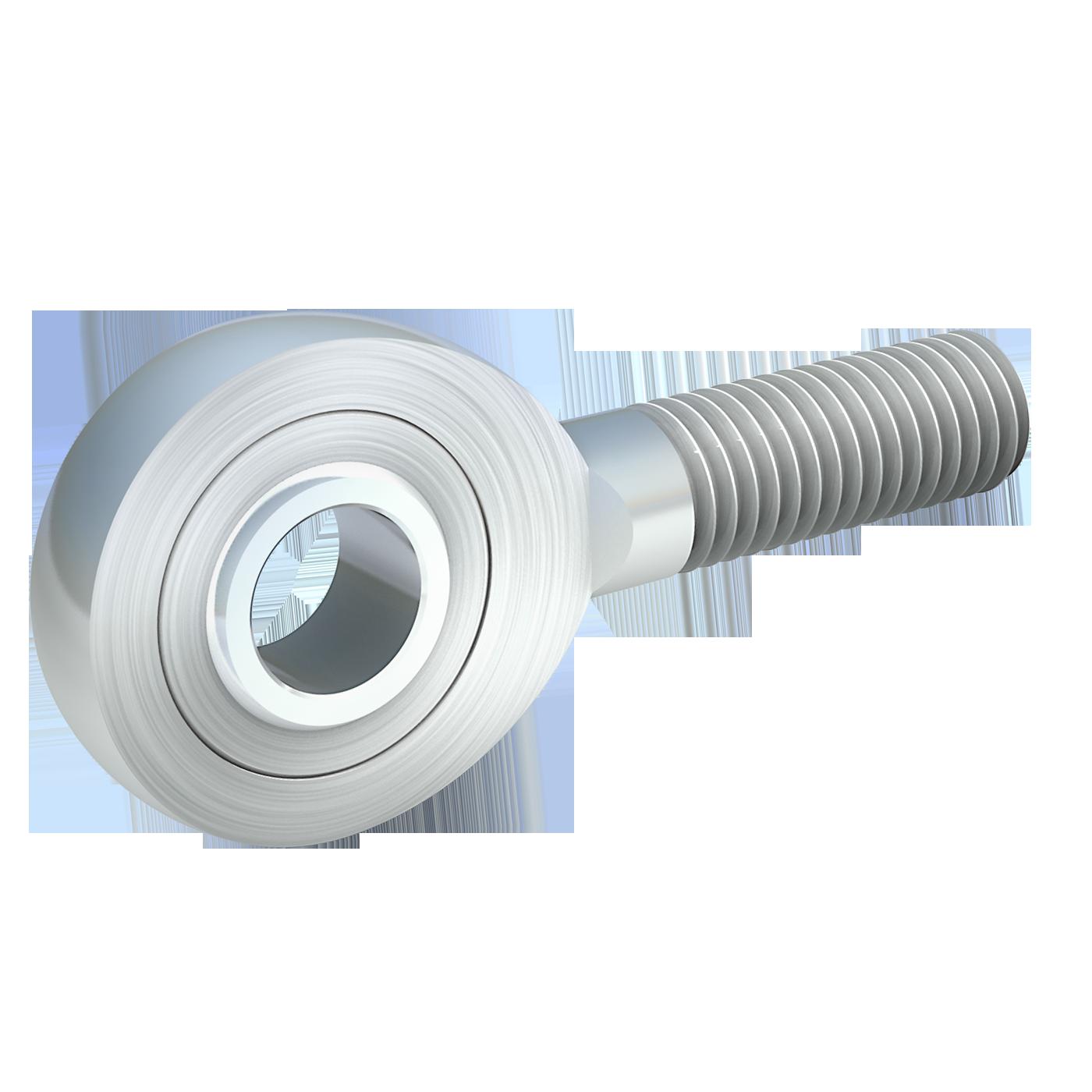 Gelenkköpfe der schmalen Maßreihe E, sind nach DIN ISO 12240-4 (DIN 648). Dieser Gelenkkopf mit Außengewinde von mbo Oßwald ist wartungsfrei und aus Stahl verzinkt.
