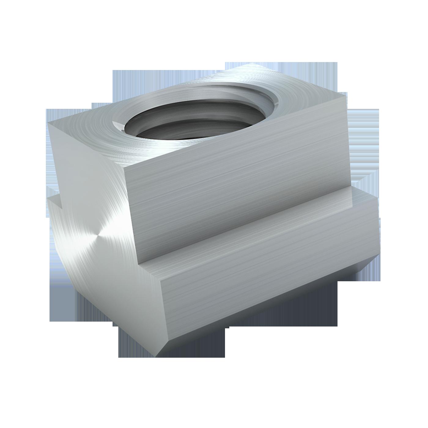 Muttern für T-Nuten oder T-Nuten-Steine von mbo Oßwald nach DIN 508 werden in Material Stahl und Edelstahl angeboten.