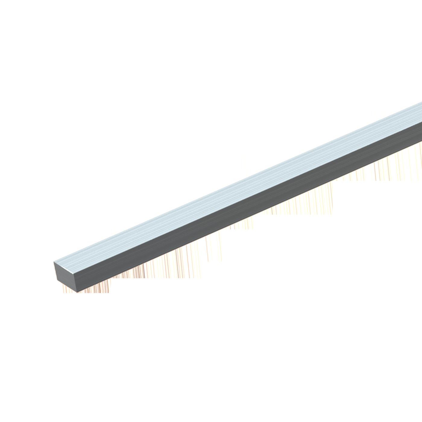 Les aciers à clavettes DIN 6880 sont utilisés pour la production des par ex. clavettes à talon DIN 6887 et des clavettes parallèles DIN 6885. Chez mbo Osswald l'acier à clavette est disponible en barres dans des longueurs allant jusqu'à 1 m. Ils sont fabriqués en acier traité et acier inoxydable.