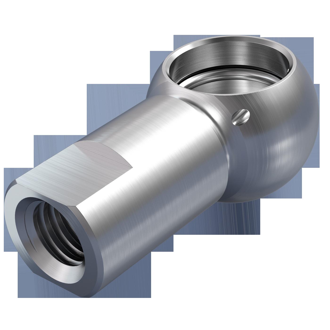 mbo Oßwald ist Produzent von Kugelpfannen, Kugelpfanne nach DIN 71805 Form B mit Schlüsselfläche. Verarbeitet werden Stahl und Edelstahl 1.4305 bzw. A4 Qualität 1.4404.