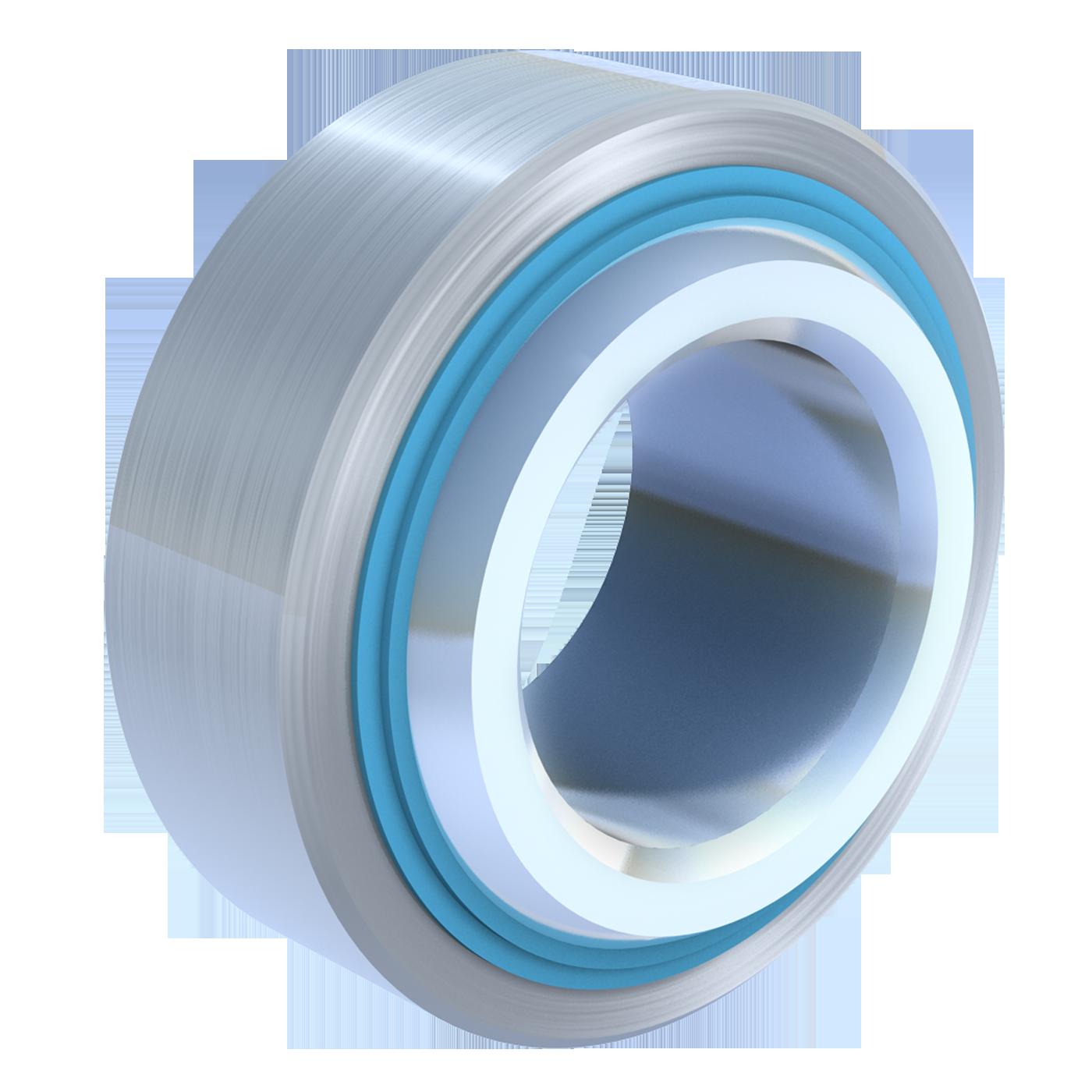 Wartungsfreie Gelenklager der schmalen Maßreihe E, sind ebenfalls nach DIN ISO 12240-1 (DIN 648). Diese Gelenklager gibt es von mbo Oßwald mit beidseitiger Abdichtung in Stahl verzinkt.
